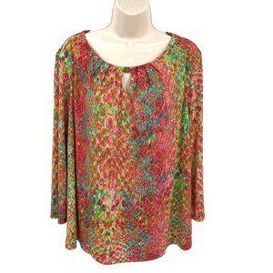 Ann Klein Multi Colored Blouse XL